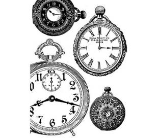 דקופג' אורז גודל A4 - וינטאז' שעונים