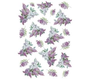 דקופג' אורז גודל A4 - פרחים סגולים