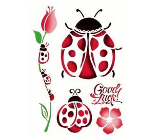"""שבלונות גדולות - חיפושית ופרח 30*21 ס""""מ"""