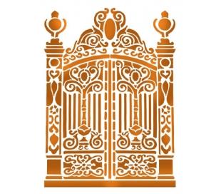 """שבלונות גדולות - שער מעוטר 30*21 ס""""מ"""