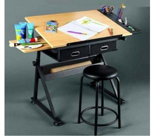 שולחן וכיסא מקצועי לציור ורישום - במבצע היכרות