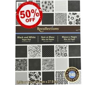 בלוק 240 דפי עיצוב A4 - קלאסי שחור ולבן