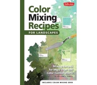 ספר מתכונים לערבוב צבעים ויצירת גוונים של נופים