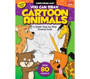 ספר לימוד צעד אחר צעד 80 חיות מצויירות