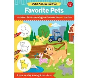 ספר לציור חיות בית עם דפי אימון ומדבקות