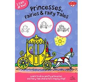 ספר לימוד דמויות מצוירות - נסיכות מהאגדות