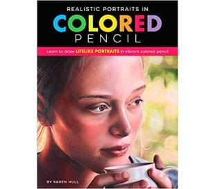 ספר לימוד ציורי פורטרייט עם עפרונות צבעוניים