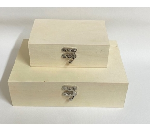 קופסאות עץ מלבניים ב-2 גדלים