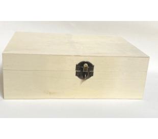 קופסאת עץ גדולה עם סוגר למנעול