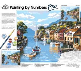 ערכת ציור במספרים פרו ענקית רוייאל - עיירה ליד המים