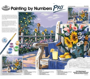ערכת ציור במספרים פרו ענקית רוייאל - חמניות
