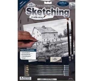 ערכה ללימוד רישום וציור- נוף הכפר