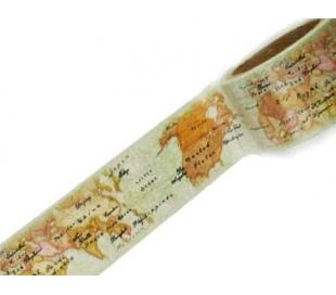 וואשי טייפ סטמפריה רוחב 3 סמ - מפות עולם