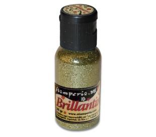אבקת נצנצים בגוון זהב בהיר