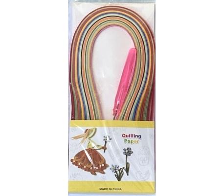 מארז נייר קווילינג דק צבעוני כולל מכשיר