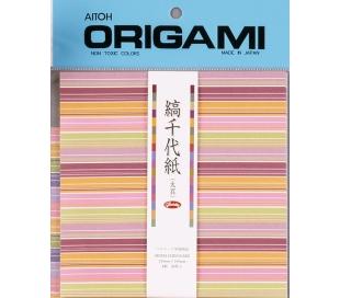 אוריגמי ציוגמי פסים מיוחדים 15*15סמ