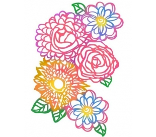 """שבלונות גדולות - פרחים 30*21 ס""""מ"""