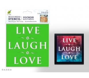 שבלונת כיתוב - לחיות לאהוב לצחוק