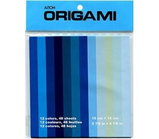 אוריגמי בגוונים כחולים