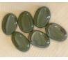 אבני זכוכית נגצים אטומים גדולים אליפסה ירוק כהה