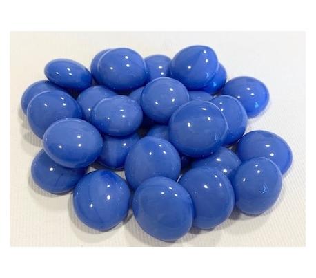 אבני זכוכית נגצים אטומים קטנים כחול בנוני 200 גרם