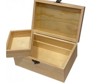 קופסה תכשיטים מעץ עם מגירה