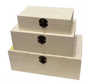 קופסאות עץ עם מנעול נעילה