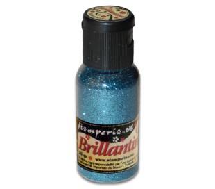 אבקת נצנצים בגוון תכלת חם
