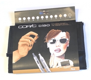 COPIC CIAO קופיק מרקר  פורטרט 12 גוונים עם תיק איחסון