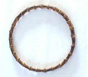 """חישוק עץ במבוק קוטר 22 ס""""מ"""