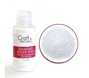אבקת נצנצים עדין - לבן קריסטל