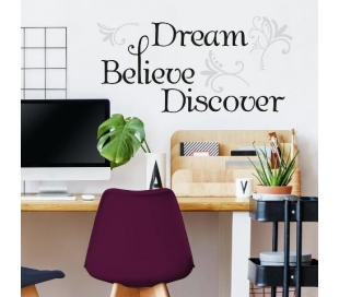 מדבקת קיר מעוטרות להשראה לחלום לאמין