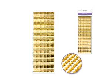 מדבקות אבני חן  4ממ- זהב