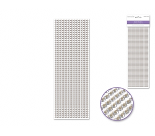מדבקות אבני חן 4 ממ- קריסטל