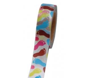 וואשי טייפ כפות רגל צבעוניים