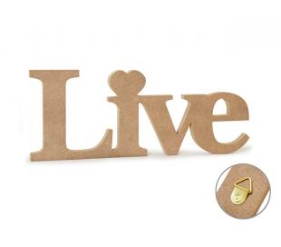 שלט עץ MDF לחיות