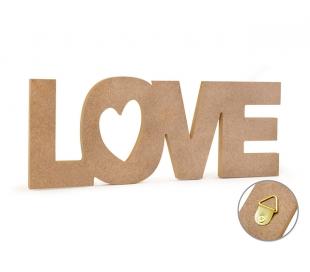 שלט עץ MDF לאהוב