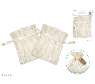 שקיות אורגנזה לכלה ומתנות - אייבורי