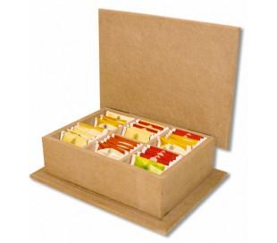 קופסת תה עם מכסה ישר ליצירה