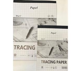 בלוקי נייר שרטוט העתקה דק - 2 גדלים