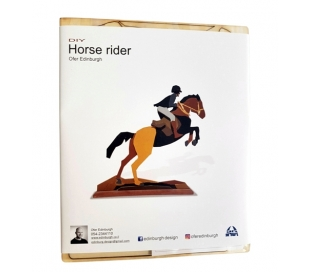 ערכת יצירה מעץ להערכבה - רוכב סוס