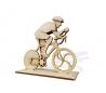 ערכת יצירה מעץ להרכבה - רוכב אופניים