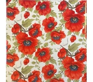 קרמיקה 15*15 בהדפס פרחים - פרג