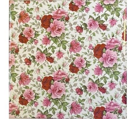 קרמיקה 15*15 בהדפס פרחים - שושנים קטנות