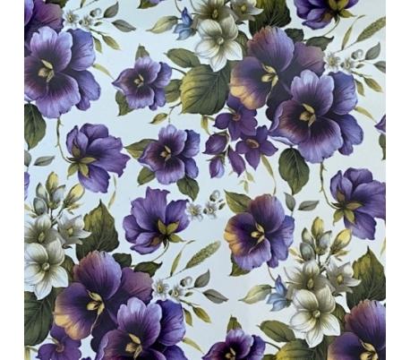 קרמיקה 15*15 בהדפס פרחים - פרחים סגולים