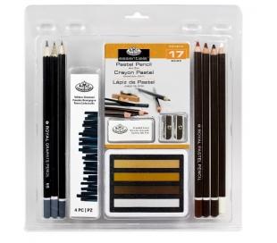 מארז ציור פסטל עפרונות ופחמים רוייאל בראש
