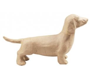 עיסת נייר כלב נקניק בנוני עומד DECOUPATCH
