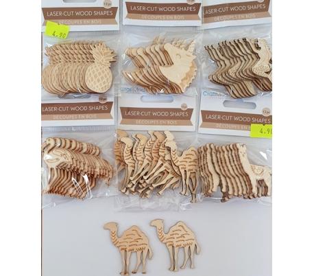 12 מארזים של 10 חיתוכי עץ במבצע 2.5 ש ליח