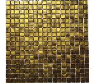 פסיפס זכוכית בגוון זהב 30*30 סמ