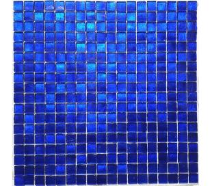 פסיפס זכוכית בגוון כחול חזק 30*30 סמ